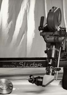 An early model Slider used with a Revolution lens