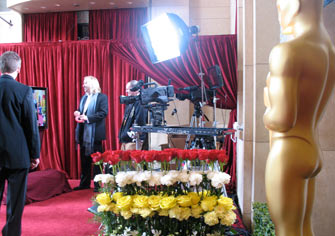 The Slider working on the red carpet at the Oscars
