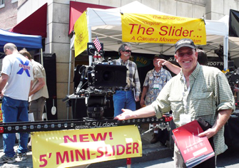 Mark Parsons showing off the 5-Foot Mini Slider at CineGear