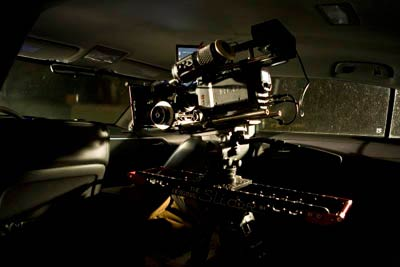 The Mini Slider Camera-Movement system mounted inside a car