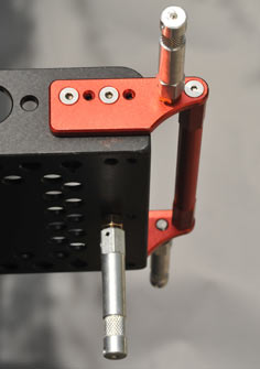 The bottom of the Mini Slider is tapped with 3/8-inch holes to utilize baby pins
